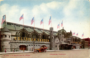 Chicago Coliseum Illinois Old Autos circa 1910 Postcard - Vintage Postcard Boutique