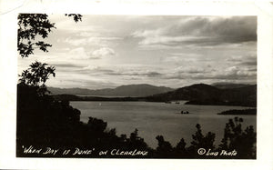 Clear Lake California Vintage Real Photo RPPC Postcard 1942