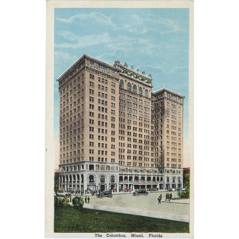 Columbus Hotel Miami Florida Biscayne Bay Vintage Postcard (unused) - Vintage Postcard Boutique