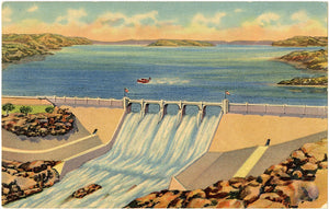 Conchas Dam & Reservoir Northeastern New Mexico Vintage Postcard 1955 - Vintage Postcard Boutique