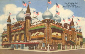 Mitchell South Dakota Corn Palace Vintage Postcard 1959 - Vintage Postcard Boutique