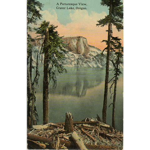 Crater Lake National Park Klamath County Oregon Vintage Postcard 1912 - Vintage Postcard Boutique