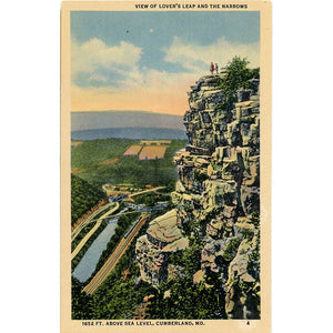 Cumberland Maryland Lover's Leap & The Narrows Vintage Postcard (unused) - Vintage Postcard Boutique