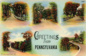Pennsylvania Country Roads Multi View Vintage Postcard (unused) - Vintage Postcard Boutique