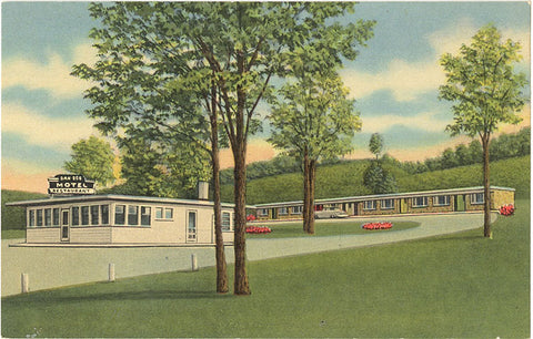Frederick Maryland Dan-Dee Motel & Restaurant Vintage Postcard (unused) - Vintage Postcard Boutique