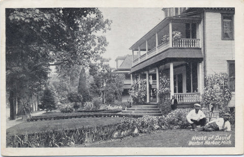 Benton Harbor Michigan House of David Eden Springs Vintage Postcard (unused) - Vintage Postcard Boutique