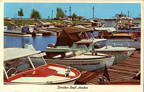 Decatur Alabama Boat Harbor Vintage Postcard 1962 - Vintage Postcard Boutique