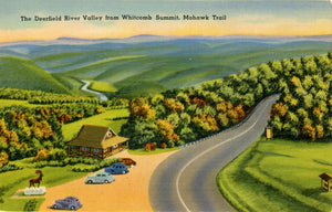 Deerfield River Valley from Whitcomb Summit Mohawk Trail Florida Massachusetts 1940s (unused) - Vintage Postcard Boutique