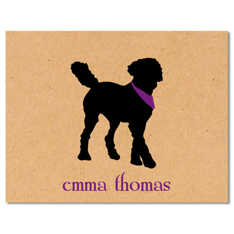 ECO Dog Silhouette Foldover Note Cards - Vintage Postcard Boutique