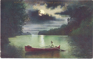 South English Iowa Boating on English River Vintage Postcard (unused) - Vintage Postcard Boutique