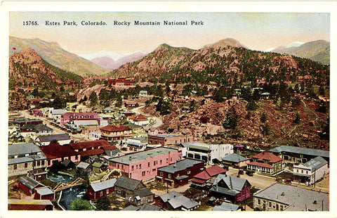 Estes Park Village Colorado Rocky Mountain National Park Vintage Postcard (unused) - Vintage Postcard Boutique