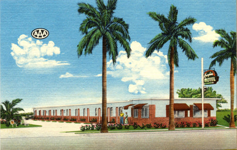 Homestead Florida Everglades Motel Vintage Postcard (unused)