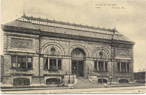 St. Louis Missouri Museum of Fine Arts Vintage Postcard 1909 - Vintage Postcard Boutique