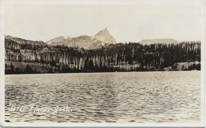 Square Lake Oregon Three Finger Jack RPPC Vintage Postcard (unused) - Vintage Postcard Boutique