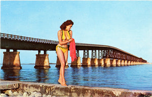 Bahia Honda Florida Keys Bathing Beauty Bikini Florida Vintage Postcard 1961 - Vintage Postcard Boutique