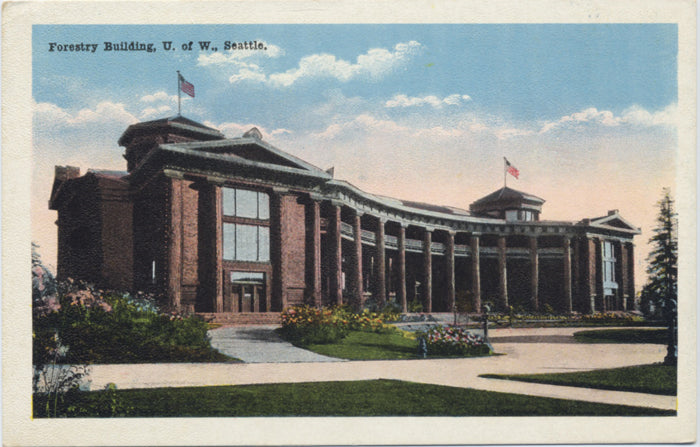 University of Washington Seattle Forestry Building Vintage Postcard (unused) - Vintage Postcard Boutique