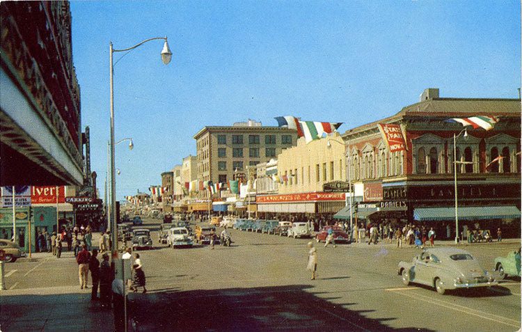 Phoenix Arizona Fox Theater Washington Street Vintage Postcard 1950s (unused) - Vintage Postcard Boutique