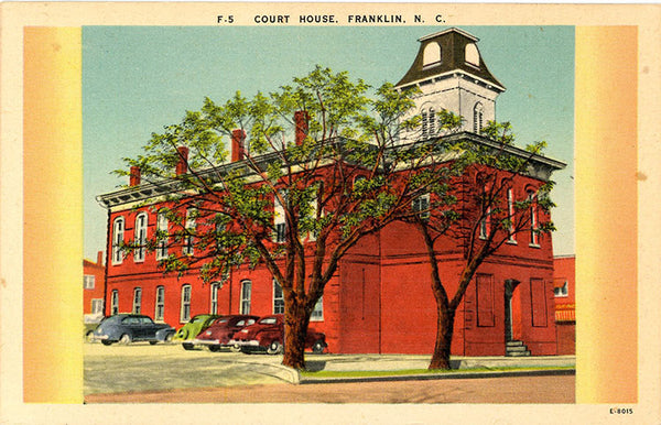 Franklin North Carolina Court House Vintage Postcard (unused) - Vintage Postcard Boutique