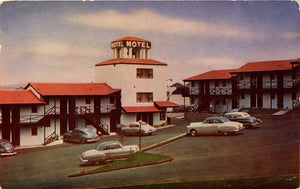 Franciscan Motel Highway 101 San Francisco Vintage Postcard 1954 - Vintage Postcard Boutique