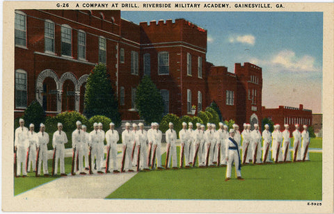 Riverside Military Academy Gainesville Georgia Vintage Postcard (unused)