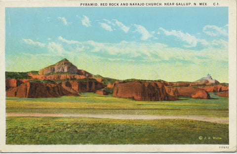 Gallup New Mexico Red Rock Navajo Church Vintage Postcard - Vintage Postcard Boutique