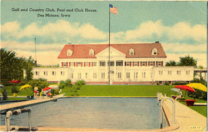 Des Moines Iowa Golf Country Club and Pool Vintage Postcard (unused) - Vintage Postcard Boutique