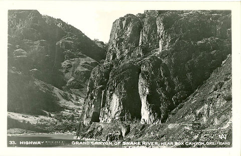 Grand Canyon of Snake River Highway Tunnel Idaho Oregon RPPC Vintage Postcard - Vintage Postcard Boutique