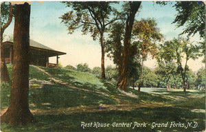 Grand Forks North Dakota Rest House Central Park Vintage Postcard 1912 - Vintage Postcard Boutique
