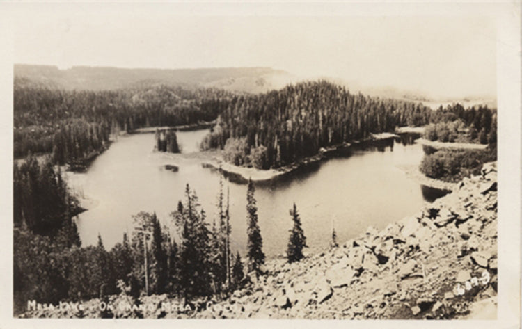 Mesa Lake on Grand Mesa Colorado RPPC Vintage Postcard - Vintage Postcard Boutique