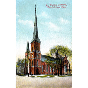 Grand Rapids Michigan St. Andrews Cathedral Vintage Postcard 1909 - Vintage Postcard Boutique