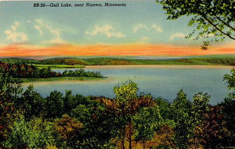 Nisswa Minnesota Gull Lake Vintage Postcard (unused) - Vintage Postcard Boutique