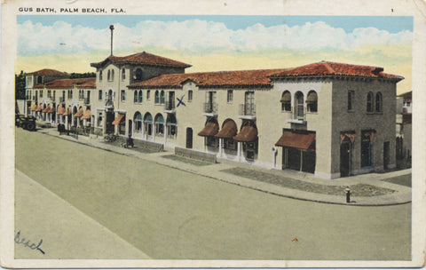 Palm Beach Florida Gus Bath Vintage Postcard 1933 - Vintage Postcard Boutique