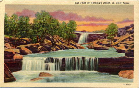 Falls at Harding's Ranch in West Panhandle Texas Vintage Postcard (unused) - Vintage Postcard Boutique