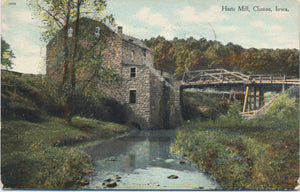 Clinton Iowa Harts Mill Vintage Postcard 1909 - Vintage Postcard Boutique