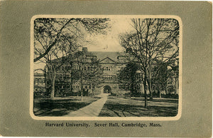 Harvard University Sever Hall Cambridge Massachusetts Vintage Postcard 1911 - Vintage Postcard Boutique
