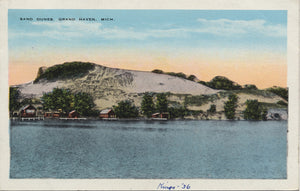 Grand Haven Michigan Sand Dunes Vintage Postcard 1936 - Vintage Postcard Boutique