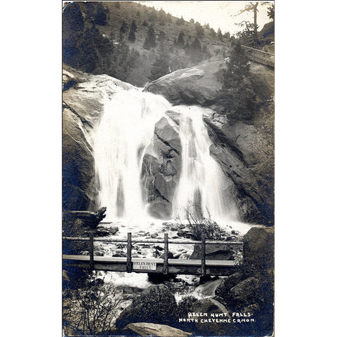 Helen Hunt Falls North Cheyenne Canon Colorado Springs RPPC Vintage Postcard (unused) - Vintage Postcard Boutique