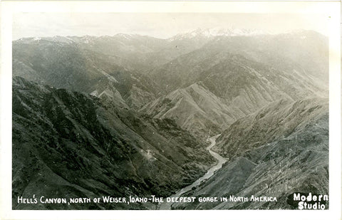Hell's Canyon Weiser Idaho RPPC Vintage Postcard - Vintage Postcard Boutique