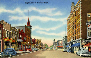 Holland Michigan Downtown Eighth Street Vintage Postcard (unused) - Vintage Postcard Boutique