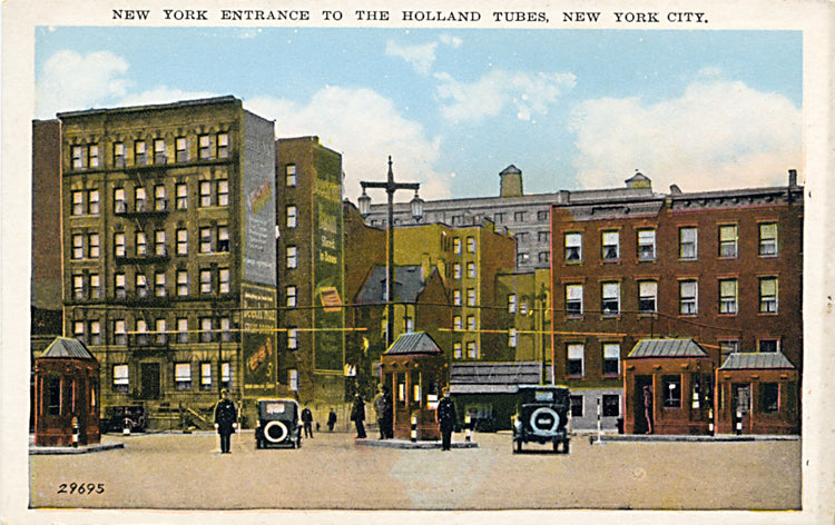 New York City Holland Tubes Entrance Subway NYC Vintage Postcard (unused) - Vintage Postcard Boutique