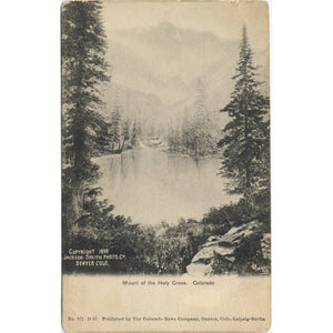 Mount of Holy Cross  Colorado Vintage Postcard 1898 - Vintage Postcard Boutique