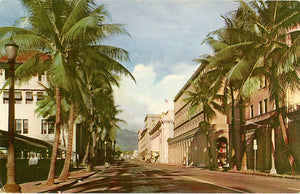 Honolulu Hawaii Bishop Street Vintage Postcard (unused) - Vintage Postcard Boutique