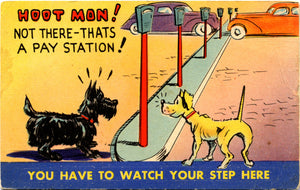 Scottish Terrier and Dog Friend Comic Postcard – Scottie (unused) - Vintage Postcard Boutique