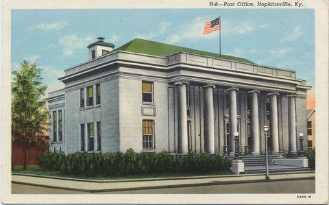 Hopkinsville Kentucky Post Office Vintage Postcard (unused) - Vintage Postcard Boutique