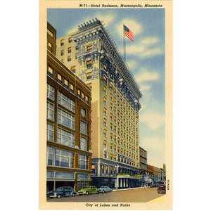 Minneapolis Minnesota Hotel Radisson Downtown Shopping District Postcard (unused) - Vintage Postcard Boutique