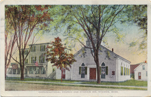 Hyannis Massachusetts Congregational Church & Hyannis Inn Vintage Postcard 1929 - Vintage Postcard Boutique