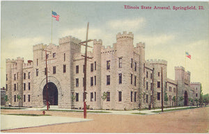 Illinois State Arsenal Springfield Vintage Postcard circa 1910 (unused)