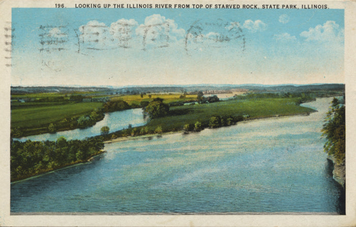 Illinois River from Starved Rock State Park Vintage Postcard - Vintage Postcard Boutique