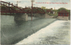 Iowa City Iowa University S.W.D. Dam Power House Vintage Postcard (unused) - Vintage Postcard Boutique