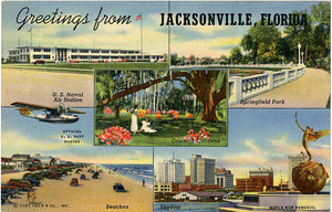 Jacksonville Florida Multiview Vintage Vintage Postcard (unused) - Vintage Postcard Boutique